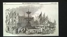 "1846 Original  Newspaper Print, OPENING OF ""THE VICTORIA FOUNTAIN"", BRIGHTON"