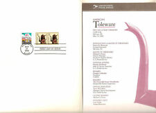 #3612 First Day Ceremony Program 5c American Toleware Stamp