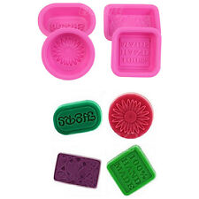 4 x Silicone 100% Hand Made Soap Candle Cake Chocolate Mold Craft DIY Mould Set