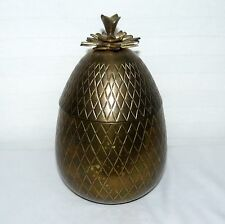NORA FENTON BRASS LIDDED PINEAPPLE INDIA 7 INCH TRINKET CONTAINER