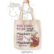 Alice nel Paese delle Meraviglie Mad Hatter Canvas Tote Shopping bag shopper per la vita aw05