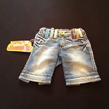 MISS SIXTY GIRLS 2 YEARS DENIM SHORT DETAILED COLOURED BELT LOOP RRP £74 NOW £14