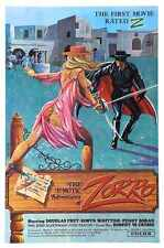 Erotic Adventures Of Zorro Poster 01 A3 Box Canvas Print