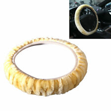 Winter Warm Car Accessory Solid Grips Soft Plush Steering Wheel Cover  ..