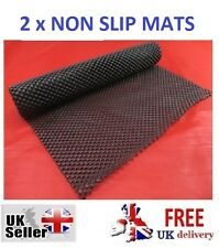 2 NON SLIP MATS Cut Mat To Size Rug Carpet Car Dashboard Drawer Liner Anti Spill