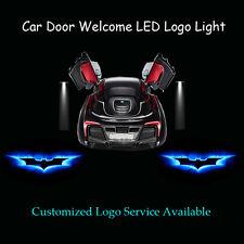 2 x Car Door Blue Dark Knight Batman Logo Laser Projector Ghost Shadow LED Light