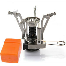 New Outdoor Portable Foldable Picnic Gas Burner Camping Mini Steel Stove Case