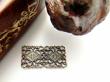 SILVER Ornate Bar Filigree Stamping Connector ~ Antique Silver (CB-3023 B) `