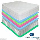 """NEW 13"""" NIGHT THERAPY DELUXE EURO BOX TOP SPRING MATTRESS KING QUEEN FULL SIZES"""