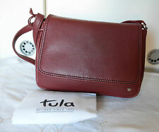 Tula Radley classic  nappa originals burgundy leather cross body bag NEW