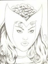 Wanda Scarlet Witch Pencil Commission - Signed art by Kevin Maguire
