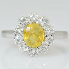18ct Gold Yellow Sapphire And Diamond Ring