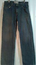 Mens jeans Levis straight leg 34/34 cotton authentic signature med wash cotton