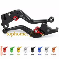 Short CNC Brake Clutch Levers For Honda CBR300R/GROM/CB500F 2014-2016 Black