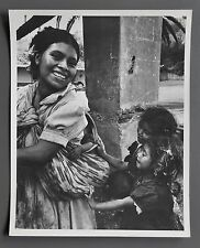 Lisa Larsen Vintage Silver Gelatin Photo 20x25 Guatemala Mother and Children B&W