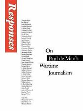Responses: On Paul de Man's Wartime Journalism-ExLibrary