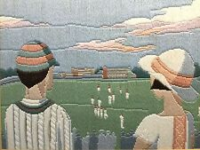 Embroidery / Tapestry / Knitted Picture of Cricket Match Sport Game
