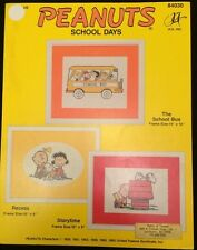 Peanuts School Days Cross Stitch Charts Patterns 3 Designs Vintage Out of Print