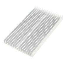 Silver Tone Aluminum Cooler Radiator Heat Sink Heatsink 100x60x10mm LW