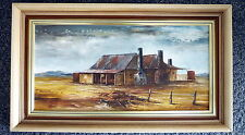 ORIGINAL AUSTRALIAN OIL PAINTING Farm House out of Forbes by Norma Cunningham