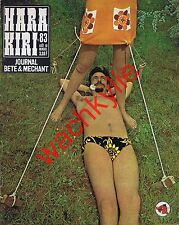 Hara Kiri n°83 du 08/1968 Wolinski Guy Peellaert maurizio Bovarini