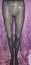 2 PAIRS OF SEMI OPAQUE BLACK FINE RIBBED TIGHTS - GORGEOUS!!