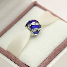 * Authentic Pandora Adornment Royal Blue 791991EN118 Christmas 2016 w Gift Pouch