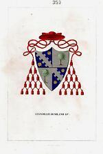 Araldica stemma araldico della famiglia Sfondrati di Milano