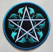 #03 Star Design Round Embroidered Iron on Patch Free Postage