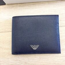 EMPORIO ARMANI Original New Men's Wallet with Box Dark-Blue