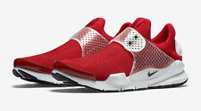 Men's Nike Sock Dart Running Shoes Gym Red Black White 819686 601 Size 11