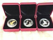 1 oz. Fine Silver 3 - Coin Set - Bald Eagle (2014)