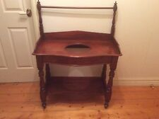 Lovely Victorian Antique Cedar Washstand with Towel Rack. Circa 1890