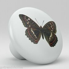 Butterfly Vintage Antique Ceramic knob Pull Kitchen Closet Drawer Handle 1850