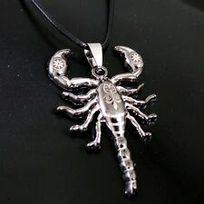 Personality Stainless Steel Black Scorpion necklace HH87