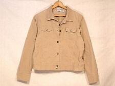 Izod lightweight corduroy beige button stretch jacket / women's XL / VGC / sb23