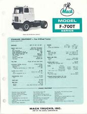 1972 Mack Model F700T Series Truck Brochure t5025-3QWMPT