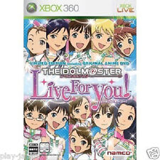Used Xbox 360 The Idolmaster Live for You! Limited ed.