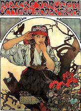 Alfons Alphonse Mucha A3 tamaño póster de Moravia profesores Art Nouveau y gratis de impresión