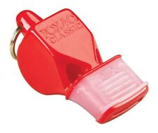 Fox 40 Red Classic CMG Whistle w/ Matching Lanyard, Referee Safety, LifeGuard