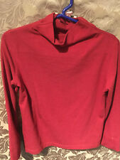 Verde & Mela Red Mock Neck Top, girls size 6, Made in Italy