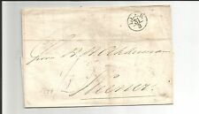 Hannover / LEER Mini-K1 auf Tax.-Brief 1844 n. Weener