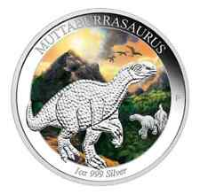 Australia Age of Dinosaurs Muttaburrasaurus 2015 1oz Silver Proof Coloured Coin