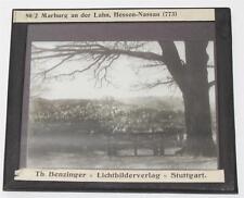 Marburg an der Lahn, antikes Lichtbild Glasplatte ca. 1920 #E896