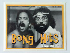 "SERIAL KILLER brand Sticker ""BONG HITS"" CHEECH AND CHONG - MADE AT HOME - RARE!"