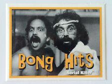 """SERIAL KILLER brand Sticker """"BONG HITS"""" CHEECH AND CHONG - MADE AT HOME - RARE!"""