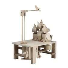 Chirpy Chicks: Timberkits Self-Assembly Wood Automaton Construction Moving Model