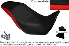 BLACK & BRIGHT RED CUSTOM FITS HONDA CB 500 X 13-14 DUAL LEATHER SEAT COVER