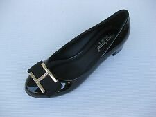Pierre Dumas Flexibles Womens Shoes NEW $42 Parklane Black Patent Pump 6 M