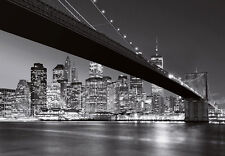 Wall Mural photo Wallpaper NEW YORK Brooklyn Bridge 366x254cm Cityscape Wall art